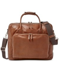 Fossil Carson Leather Traveler Cognac