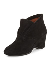 L' Amour Des Pieds Oden Suede Wedge Bootie Black
