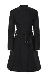 Zac Posen A Line Belted Trench Coat Black