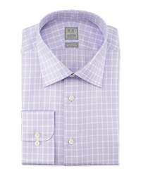 Ike Behar Textured Box Check Woven Dress Shirt Tulip