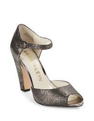 Anne Klein Henrika Peep Toe Pumps Pewter