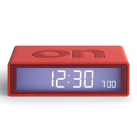 Lexon Flip Clock Rhodamine Red