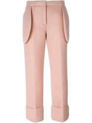 Simone Rocha Straight Leg Trousers Pink And Purple