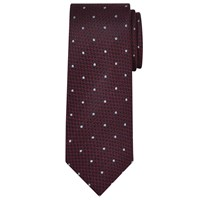 Chester Barrie By Textured Spot Silk Tie Wine Grey Wine Grey