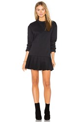 Twenty Pride Pleated Sweater Dress Black