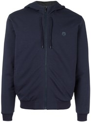 Z Zegna Hooded Short Jacket Blue