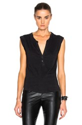 Pam And Gela Muscle Henley Tee In Black
