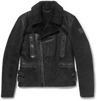 Belstaff Westport Shearling Biker Jacket Black