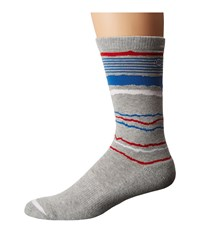Travis Mathew Cornell Socks Lunar Rock Men's Crew Cut Socks Shoes White