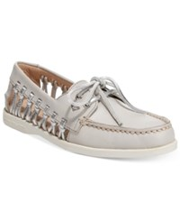 Sperry A O Haven Boat Shoes Women's Shoes Light Grey