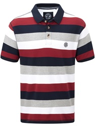 Tog 24 Wells Stripe Polo Regular Fit Polo Shirt Red