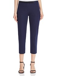 Elie Tahari Juliette Cropped Slim Pants Navy Yard