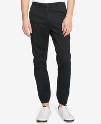 Kenneth Cole Reaction Men's Lightweight Twill Joggers Black