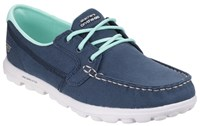 Skechers On The Go Clipper Boat Style Shoes Navy