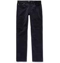 Club Monaco Slim Fit Stretch Cotton Corduroy Trousers Navy