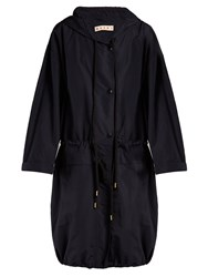 Marni Oversized Hooded Parka Blue