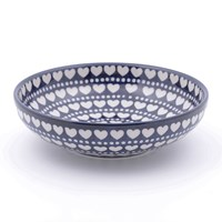 Bunzlau Castle Serving Bowl Blue Valentine Medium