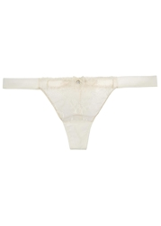 Myla Compelling Ivory Lace Thong