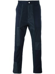 White Mountaineering Tonal Tapered Trousers Blue