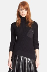 Marc By Marc Jacobs Pima Cotton And Silk Turtleneck Sweater Black