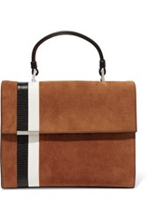 Tomasini Stratoss Suede And Leather Tote Tan