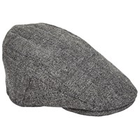 Christys' Balmoral Tweed Flat Cap Grey