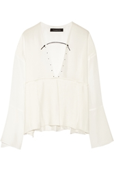 Thakoon Pleated Crepe And Georgette Top