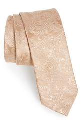 The Tie Bar Men's Textured Paisley Silk Champagne