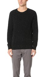 Club Monaco Cashmere Donegal Crew Sweater Black Donegal