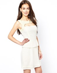 Lovestruck Dress With Lace Detail Cream