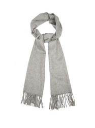 Begg And Co. Arran Cashmere Scarf Light Grey
