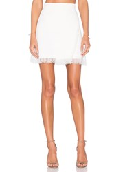 Lucy Paris Eyelash Fringe Skirt White