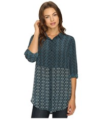Tolani Selina Button Up Top Denim Women's Clothing Blue