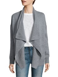 Vince Wool And Cashmere Draped Cardigan Chalet Grey Flannel