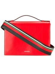 Emilio Pucci Striped Shoulder Strap Bag Red