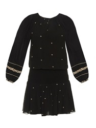 Vanessa Bruno Dabsi Embroidered Crepe Dress