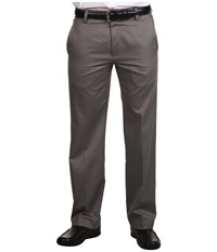 Dockers Signature Khaki D1 Slim Fit Flat Front Fog Men's Dress Pants Gray