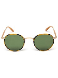 Garrett Leight 'Wilson' Sunglasses Green