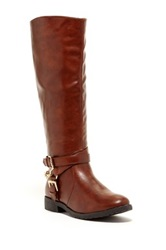 Godiva Nicole Chained Riding Boot Brown