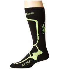 Spyder Pro Liner Sock Black Bryte Yellow Men's Knee High Socks Shoes Gray