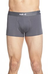 Men's Naked 'Essential' Stretch Cotton Trunks Charcoal