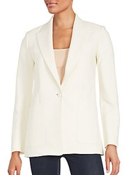 Helmut Lang Single Button Blazer Ivory