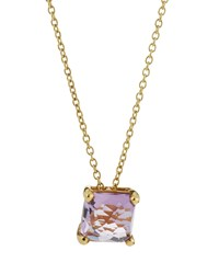 Ippolita 18K Rock Candy Mini Single Square Sliding Amethyst Pendant Necklace Women's