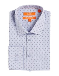 Tallia Orange Patterend Dress Shirt Blue