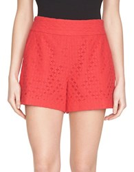 1.State Lace Shorts Crimson Berry