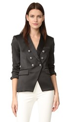 Veronica Beard Empire Double Breasted Cutaway Blazer Black
