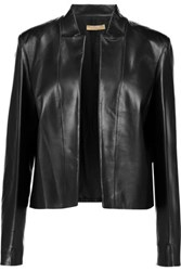 Michael Kors Collection Plong Leather Jacket Black