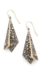 Alexis Bittar Layered Origami Earrings Gold Multi
