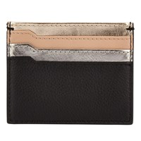 John Lewis Helen Leather Card Holder Gold Multi
