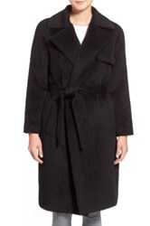 Trina Turk 'Delaney' Long Wrap Trench Coat Black